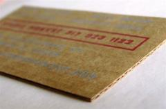 Business cards are cardboard