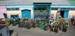 Rolling and rent of handling machines and equipmen