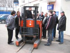 Vocational education of drivers of loaders from