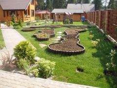 Site design, design of the seasonal dacha, design