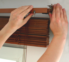 Installation of blinds, installation of blinds on