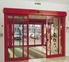 Installation of automatic doors, installation of