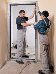 Installation of doors, installation of interroom
