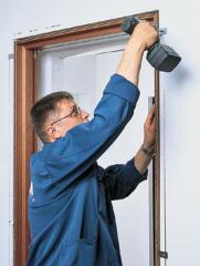 Installation of aluminum door blocks, installation