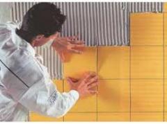 Laying of the glazed tile, laying of the glazed