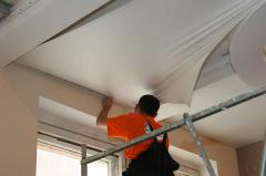 Installation of stretch ceilings, installation of