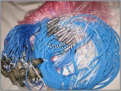 Изготовление одностенных рыболовных сетей