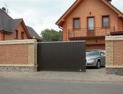 Installation, adjustment of sliding gate
