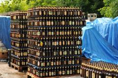Transportations of glassware on pallets