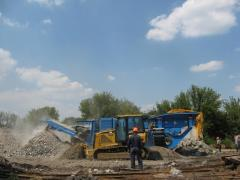 Production of secondary crushed stone from