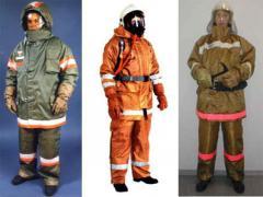 Пошив спецодежды для пожарников
