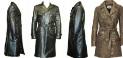 To sew a leather raincoat easily and quickly in