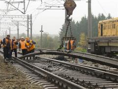 Laying of a railway track from Budremkoliya - the