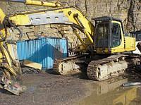 Rent, services excavator of caterpillar 2 m3