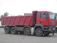 Rent, services of dump trucks 30 tn