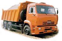 Rent, services dump truck KAMAZ 20 tn