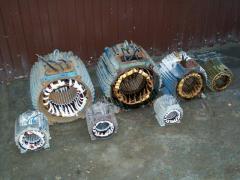 Repair of the electric motor (rewind)