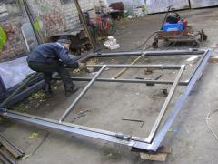 Installation, production of gate garage,
