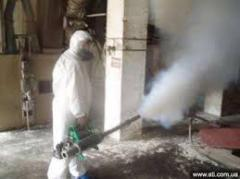Gas fumigation of grain, wood, warehouses,