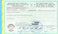 Разрешение на трудоустройство иностранных граждан