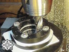 Service in milling processing of metal