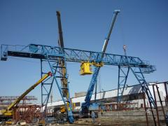 Installation of cranes