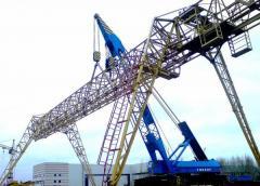 Dismantle of cranes