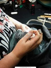 Sewing and repair of tourism and recreation clothes