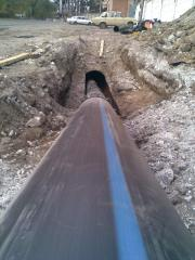 Installation of systems of a drainage and water