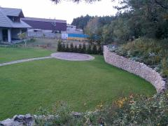 Strengthening of slopes, retaining walls from a