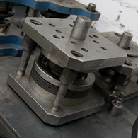 Production of stamps and compression molds to