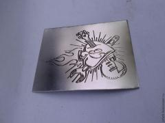 Services in industrial engraving of metals