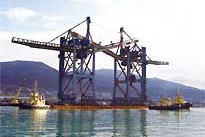 In-place transportation of load-lifting equipment.