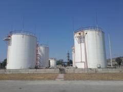 Ремонт резервуаров вертикальных стальных РВС для хранения нефтепродуктов (воды) РВС 100-10000куб.м