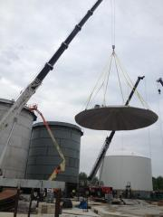 Installation of reservoirs for storage of oil