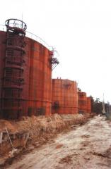 Works on installation of RVS, RGS tanks,