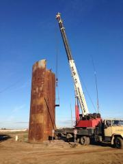 Replacement of steel tanks horizontal and vertical
