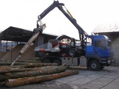 Production of spill, service in processing of wood