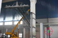 Installation of the crane equipment, tal, motor grab, cart, elevator