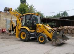 Rent of the excavator