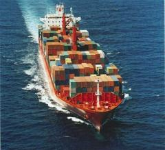 Export cargo delivery by sea containers