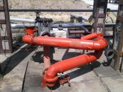 SLIV of oil products from the railway tank. with