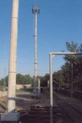 The lightning protection device on oil depots,