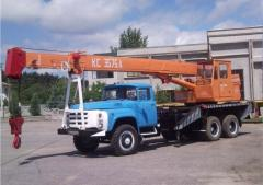 Automobile crane (repair of any kind of