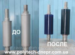 Gumming of shaft polyurethane