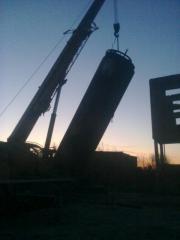 Демонтаж, поставка и монтаж резервуара