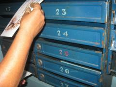 Address delivery in mailboxes.