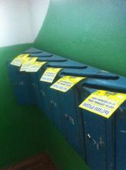 Unaddressed delivery to mailboxes in Cherkasy.
