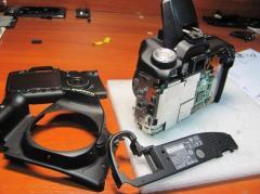 Ремонт цифровых и зеркальных фотоаппаратов