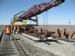 Укладка железнодорожного пути